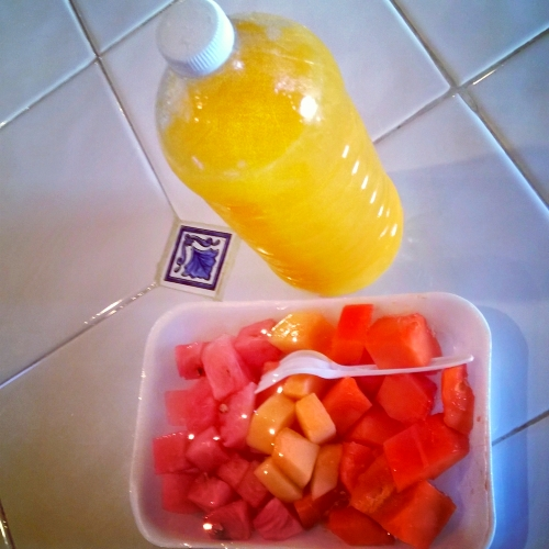 Juice and Fruit from Puerto Morelos